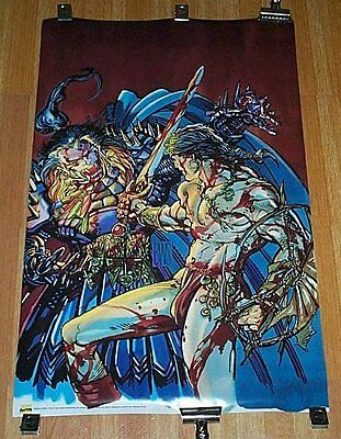 Original 1995 Marvel Comics Conan The Barbarian poster 1: Barry Smith art/1990's