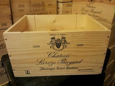 Marked Seconds- 6 Bottle Size French Wooden Wine Crate  Box  / Hamper  Storage
