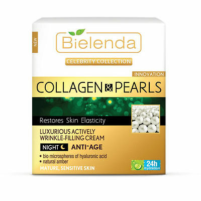 Bielenda - COLLAGEN & PEARLS Actively Wrinkle-Filling Night Cream-Concentrate