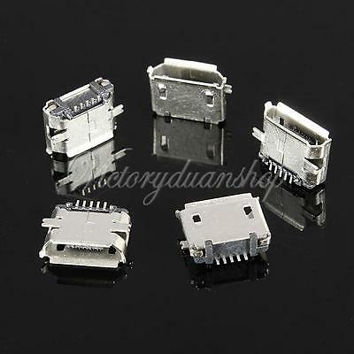 50Pcs Micro USB Type B Female 5Pin SMT Socket Jack Connector Port PCB Board -USA