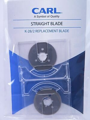 Carl K-28 Trimmer Cutter Blade Round Straight Cut Fits DC200 DC210 DC230 2/Pack