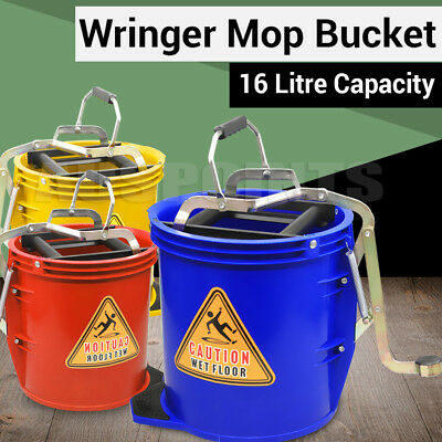 16L  Wringer Mop Bucket  Heavy Duty Commercial Cleaning Supplies Home