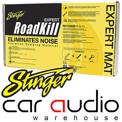 "Stinger Roadkill EXPERT Bulk Kit 9 Pcs 18""x 32"" 36sqft Sound Deadening Material"