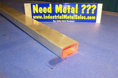 "1"" x 2"" x 96""-Long x 1/8"" Wall 6063 T52 Aluminum Rectangle Tube-->1"" x 2"" x .125"