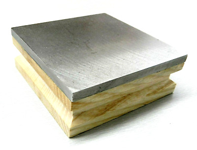 "BENCH BLOCK STEEL AND WOOD BASE 3"" SQUARE 1"" THICK FLAT 3x3 JEWELRY MAKING TOOL"