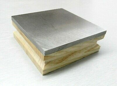 "Steel Bench Block & Wood Base 3"" Square 1"" Thick Flat Jewelry Making Tool 3""x3"""
