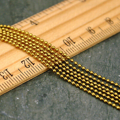 1.2mm Small Solid Brass Bead Chain Ball Chain c236(4ft)
