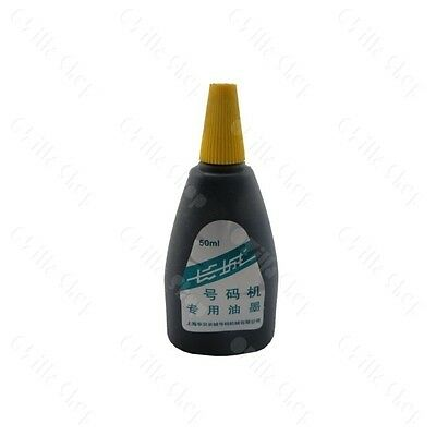 1 pcs 50ml Ink for Automatic Numbering Machine Hand Stamp Black Color Thick Ink