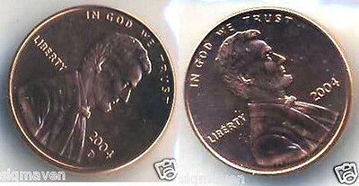 2004 P & D Lincoln Cent Set Gem Bu From Mint Sets