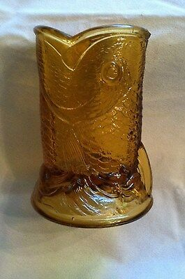 EAPG   1885  Bryce & Higbee  Child's TOY Spooner in Amber