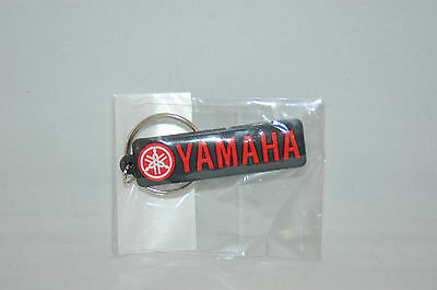Yamaha Racing Black Red Rubber Key Chain Boat WaveRunner MX Outboard ATV