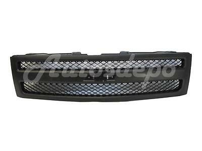 For 2007-2013 SILVERADO 1500 PICKUP GRILLE TEXTURED BLACK GRILLE AND SHELL