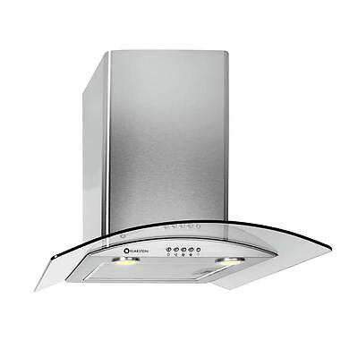 New Stainless Steel Stove Cooker Hood Oven Extractor Fan Built-In Led Lights