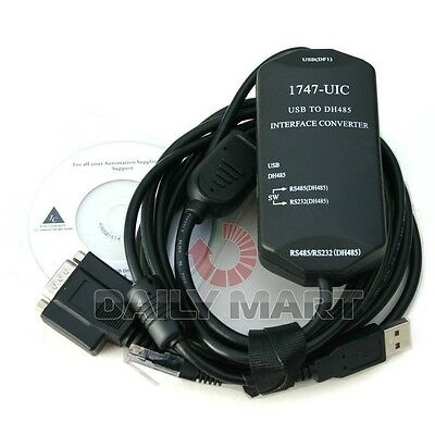 New 1747- UIC Cable USB to DH485 USB to 1747-PIC Windows XP-10 for Allen Bradley