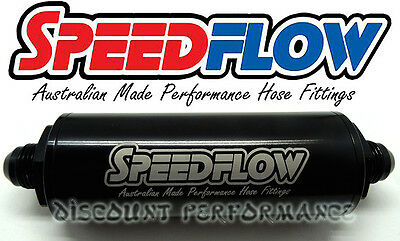 Speedflow -8AN Long Series 10 Micron Inline Billet Fuel Filter 602-010-08-BLK