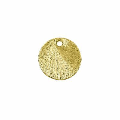 18K Gold Overlay Round Shape Brushed Bead BG-243