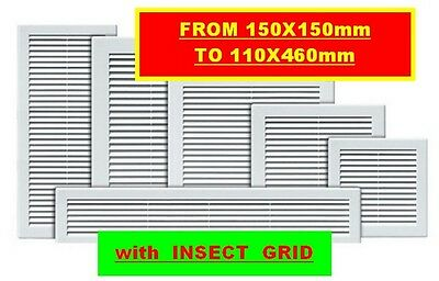 """air vent grille wall ducting cover ventilation louvre  6"""" 8"""" 10"""" 12"""" 14"""" 18"""""""
