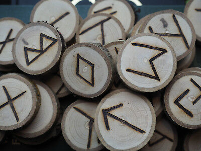 Ash Elder Futhark Runes - with Bag & Information sheet - Pagan, Wicca,  Norse