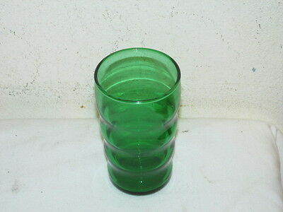 Vintage Anchor Hocking Forest Green Whirly Twirly Juice Tumbler VFC