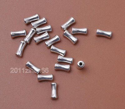 50pcs Tibetan Silver Spacer Bead Loose Spacer charms Beads 4x8mm