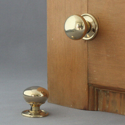 Small Brass Georgian Cottage Door Knobs