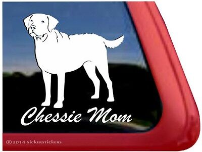 Chessie Mom | Chesapeake Bay Retriever Gun Dog Vinyl Window Decal Sticker