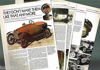 Old BUGATTI Cars Article / Photos / Pictures: Type 30,43,