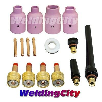 "TIG Welding Large Gas Lens Accessory Kit .020~1/8"" Torch 17/18/26 T7 