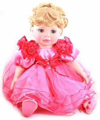 "Marie Osmond 2006 Coming Up Roses Friendship 14"" Doll Pink Dress C25949"