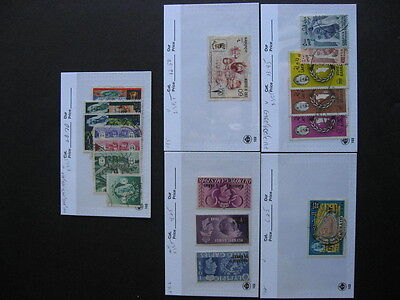 Sales Card/Glassine hoard breakdown BAHRAIN all different,unverified