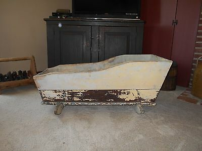 Wonderful Early Antique Primitive Baby Or Doll Rocking Cradle - Old Paint