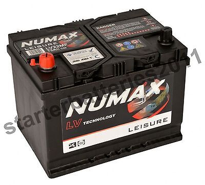 12V 75AH Numax LV22MF Deep Cycle Leisure Battery - Motorhome Caravan Campervan