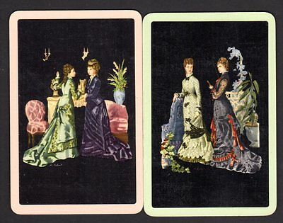 Vintage Swap/Playing Cards - Elegant Ladies Pair