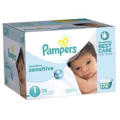 Pampers Swaddlers Sensitive Disposable Diapers ALL SIZES *FREE 2-DAY SHIPPING