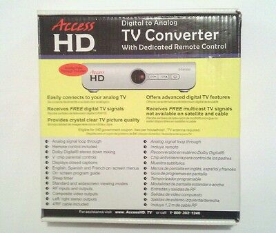 """NEW"" HD™ T.V. Converter - Digital to Analog - Everything Included"