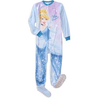 J61 Cinderella Girls Onesie Sleepwear Footed Pajamas Pyjamas Size ...