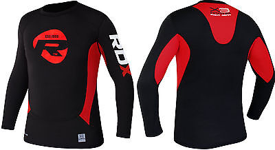 Auth RDX MMA Volle Ärmel Rash Guard Kompression T-Shirt Mann Shorts Gym Weste SW