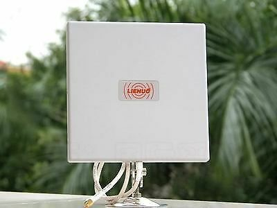 Weatherproof Aluminium Flat Panel Antenna 2.4Ghz 14DBI For Wireless Wifi Router
