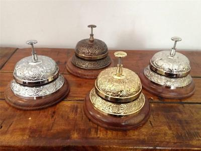 Large Quality Reception Counter Desk Restaurant Service Bell Chrome Brass Hotel