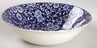 Staffordshire CALICO BLUE (BURLEIGH STAMP) Cereal Bowl 5970814