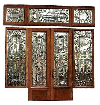 Beveled Glass Entryway, American Victorian  #4138