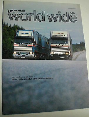 Scania World Wide 1/88 Deutsche Auflage Technische Daten Prospekt Sales Brochure