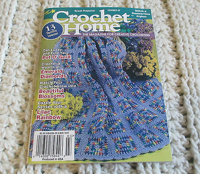Crochet Home Patterns Small Book Granny Square Afghan Floral Irish Pot Holder