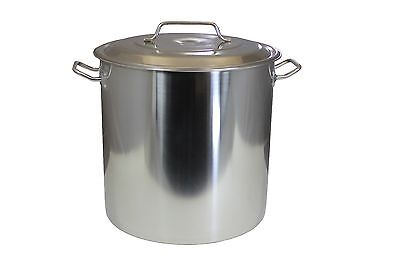 NEW 30 QT Quart Polished Stainless Steel Stock Pot Brewing Kettle Large w/ Lid