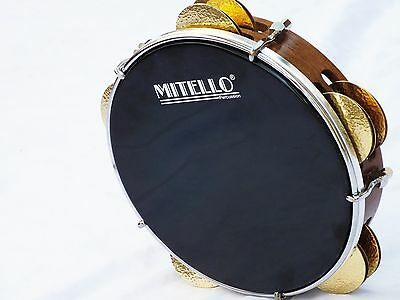 PROFESSIONAL TEF TAMBOURINE RIQ  MARINE w /  PUNCHED CYMBALS NEW !!!