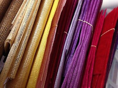 Sinamay Fabric for Fascinators, Hats, Craft, quality Millinery sinamay fabric.