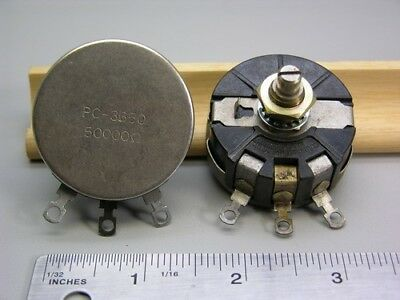2 Vintage Mil-Spec Clarostat 58 Series 50k 3W Wirewound Potentiometers Linear