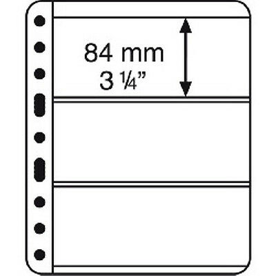 5 CLEAR VARIO STAMP STOCK SHEETS CLEAR SIDED, 3 STRIPS - (195mm x 79mm STRIPS)