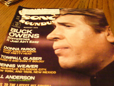 Buck Owens Covers Country Song Roundup Magazine August 1978 Donna Fargo