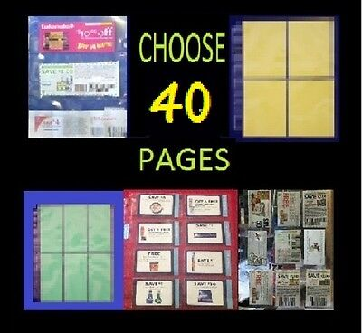 {40} COUPON SLEEVES PAGES ORGANIZER BINDER {8,6,4,4C,3C POCKETS} BUY 2 & SAVE!